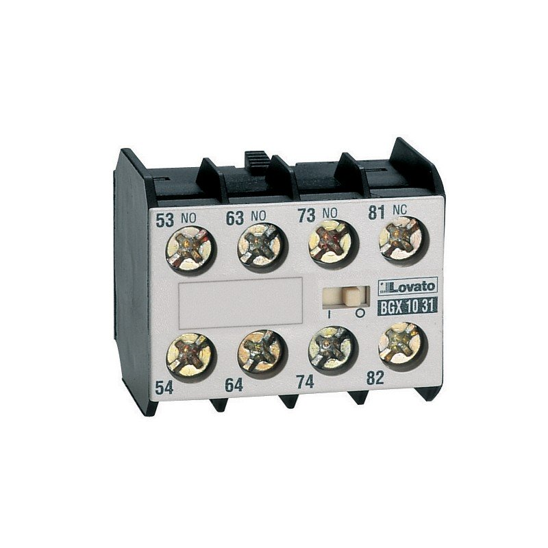 11 BGX1031 - CONTACTO AUXILIAR FRONTAL 3NA 1NC 10 AMP